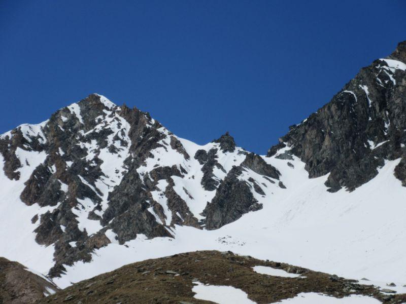 Il Col Lauson con ancora molta neve