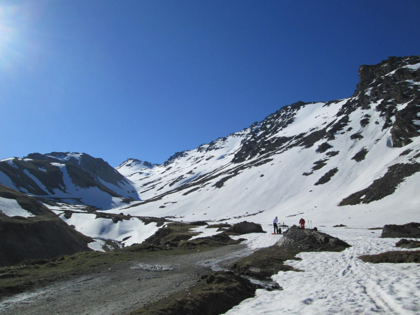 sci ai piedi a 2450 metri