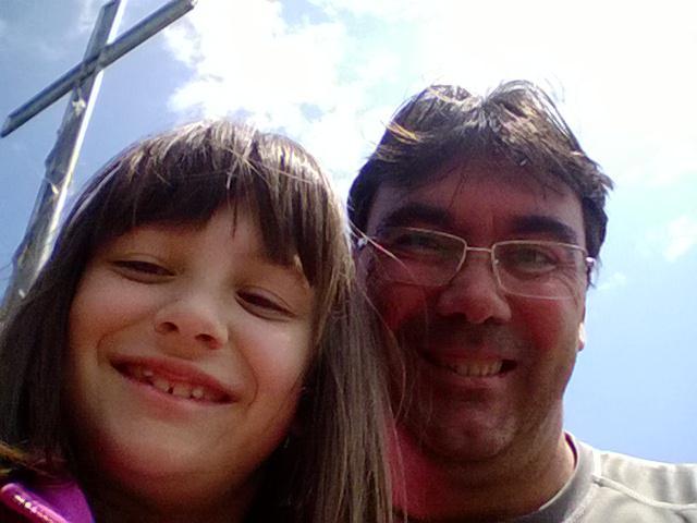 selfie di vetta con la mia piccoli
