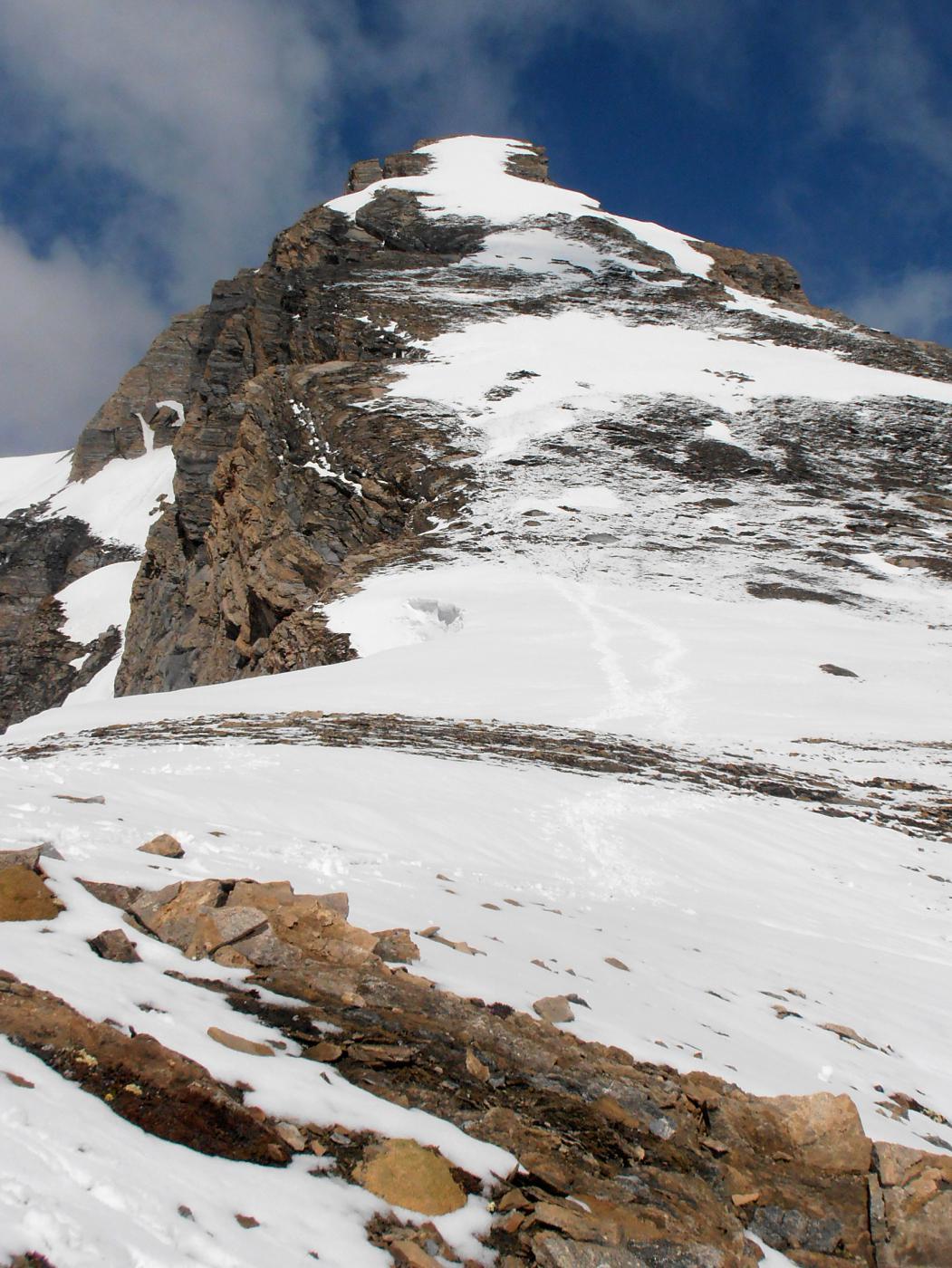 cresta no percorribile con gli sci