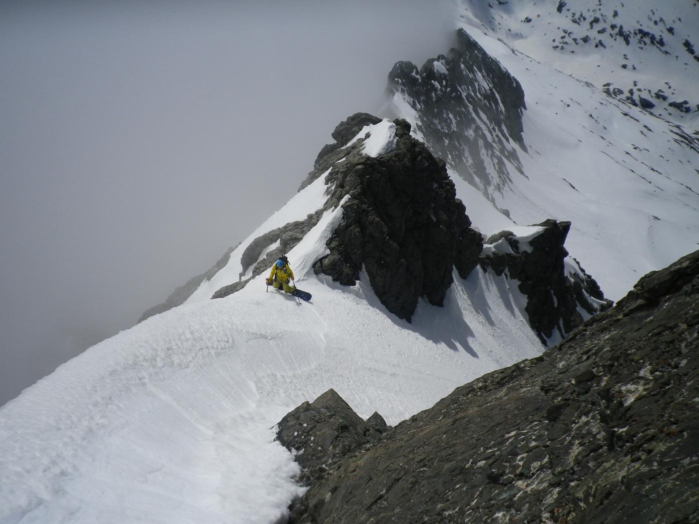 Bessanese (Uja di) sella quota 3500 conca sud per il ghiacciaio d' Arnés 2015-05-31