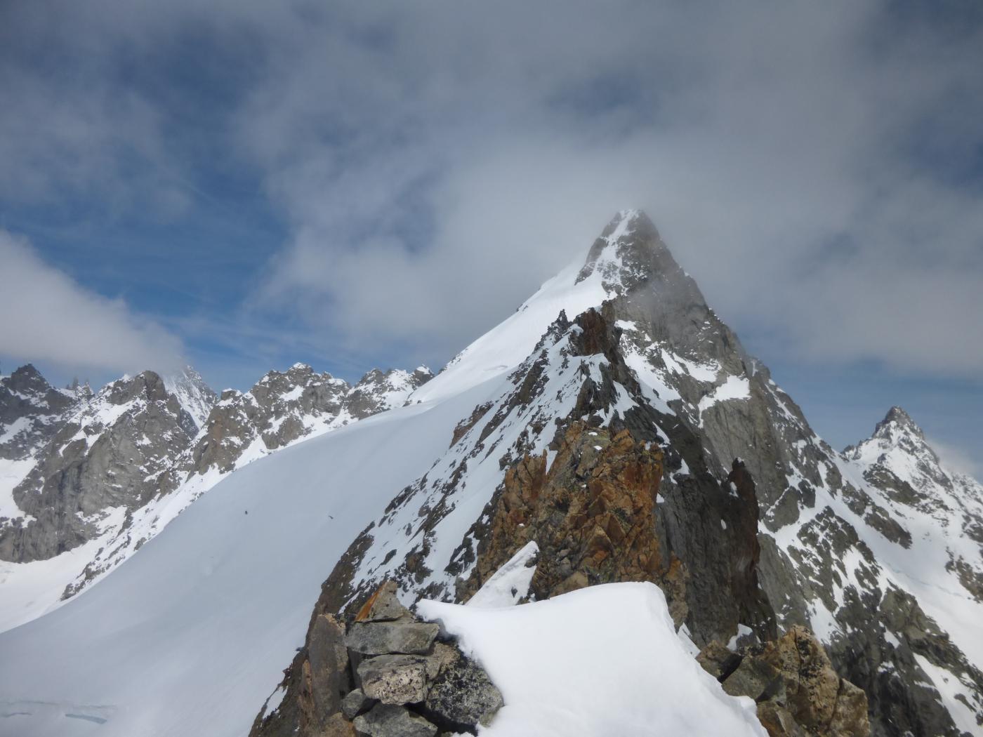 il mont Dolent dalla vetta del Grapillon