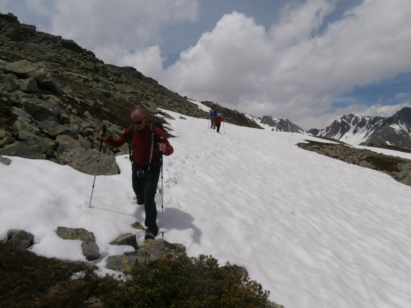 in discesa passando dal Mont Borsalet...