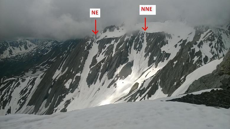 I due canali visti dal Mont Fourchon