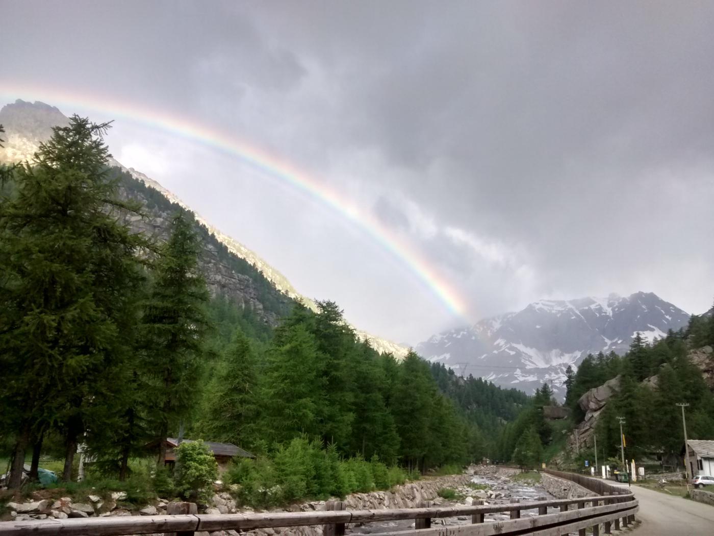 l'arcobaleno indica la meta