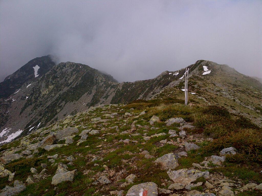 cresta est dalla cima