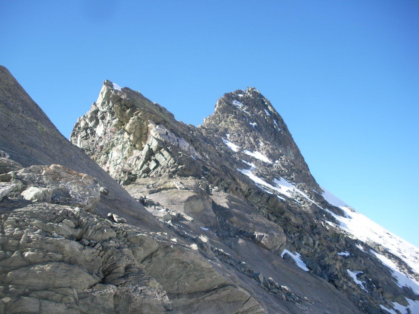 la cresta nord del Berlon dal colle omonimo..