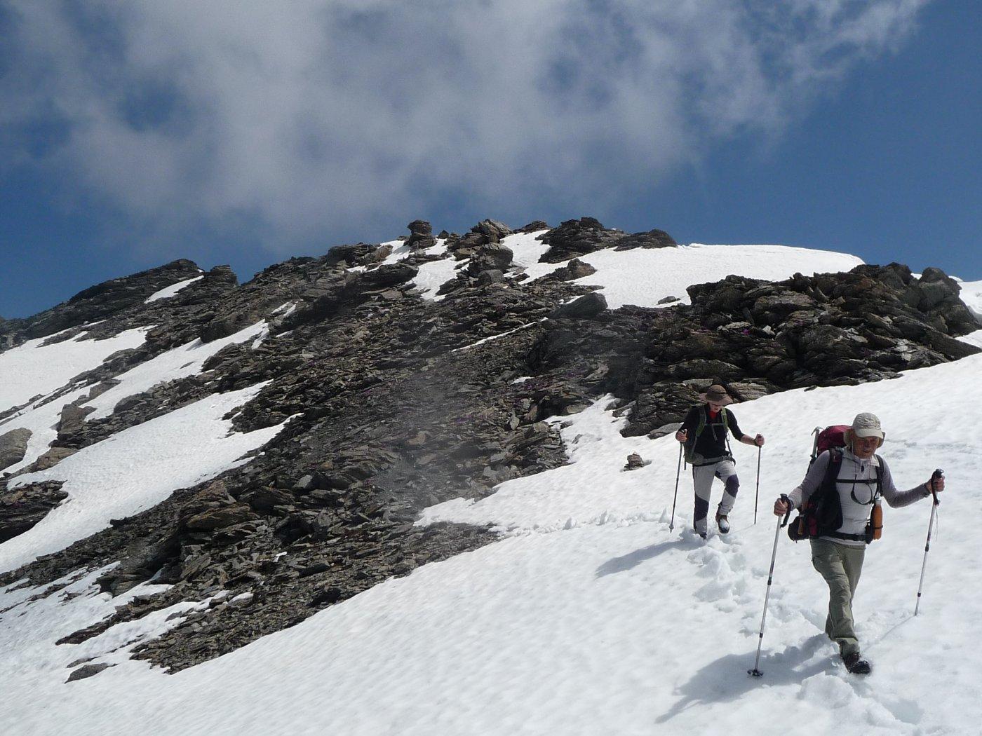 attraversamento di un nevaio