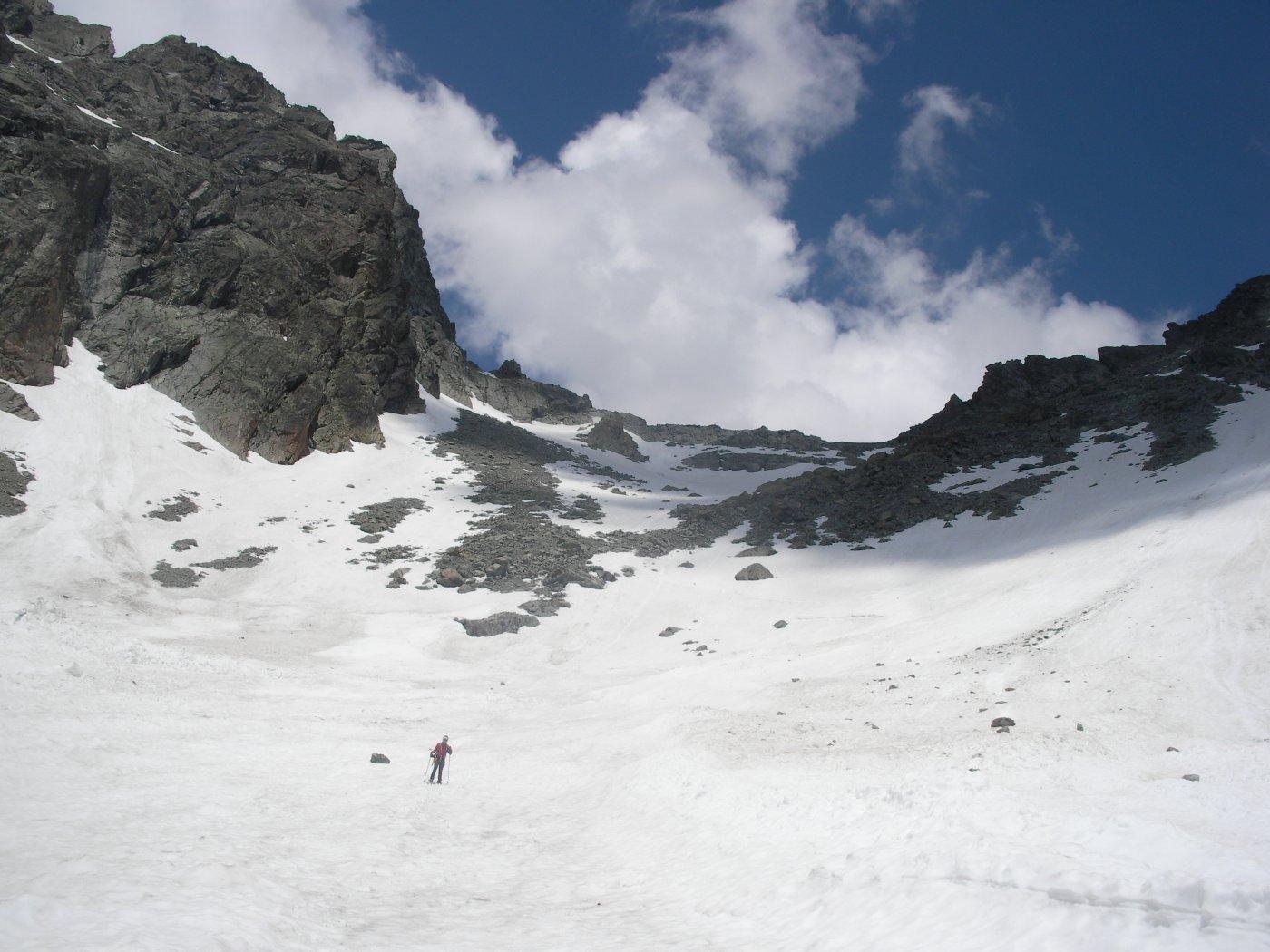 Il Col di Faudery dalla Comba omonima..