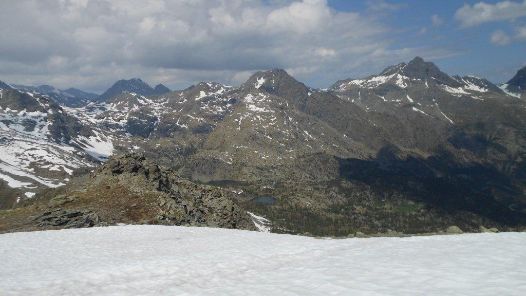 Vista verso Barbustel e laghi