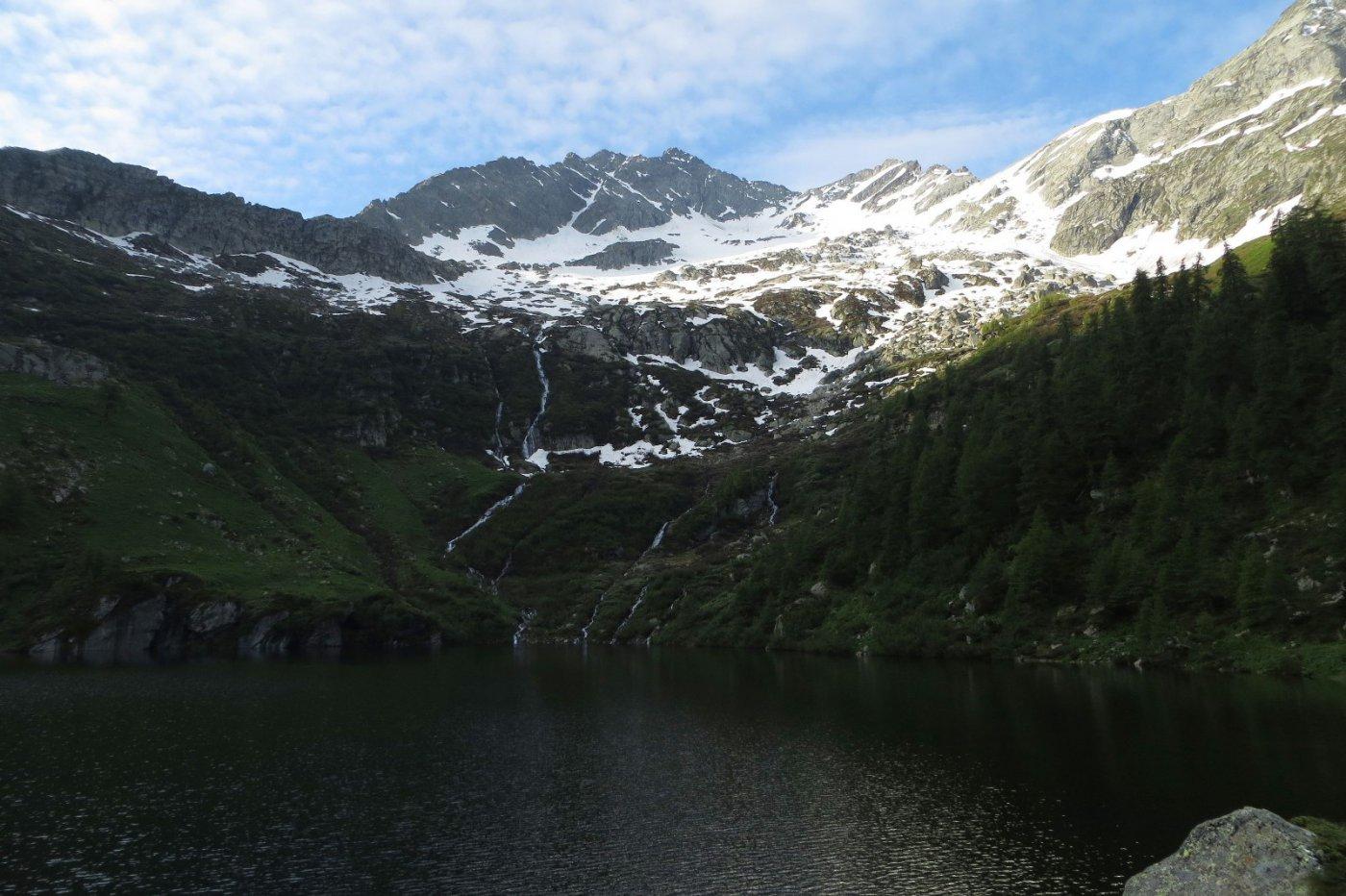 Arrivo al lago Frudiera