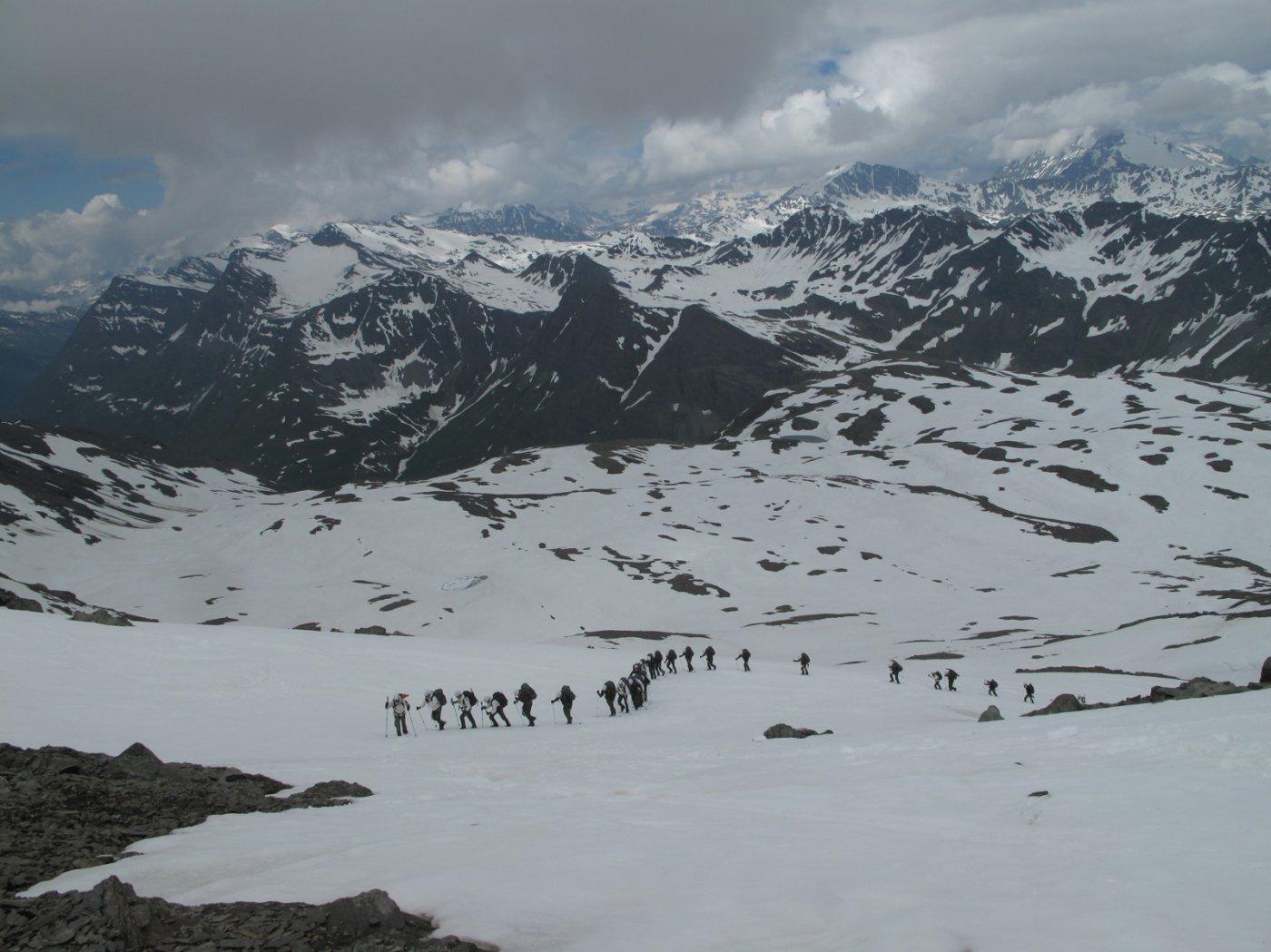 Incrocio con gli chasseurs des alps