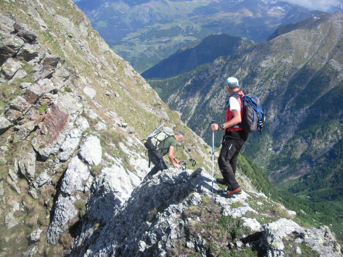 il passo alpinistico..