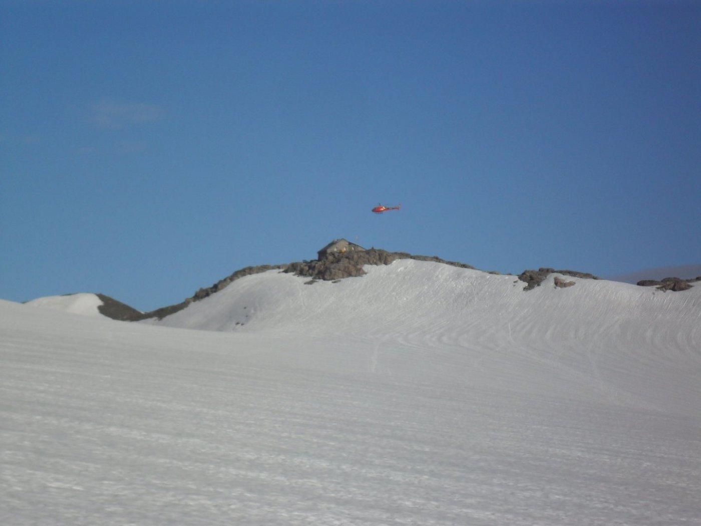 elicottero sul Tierberglihütte