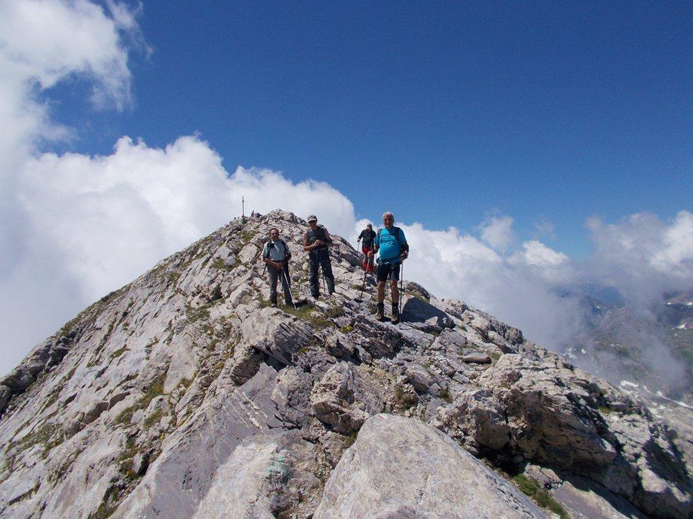 il gruppo sulla cima