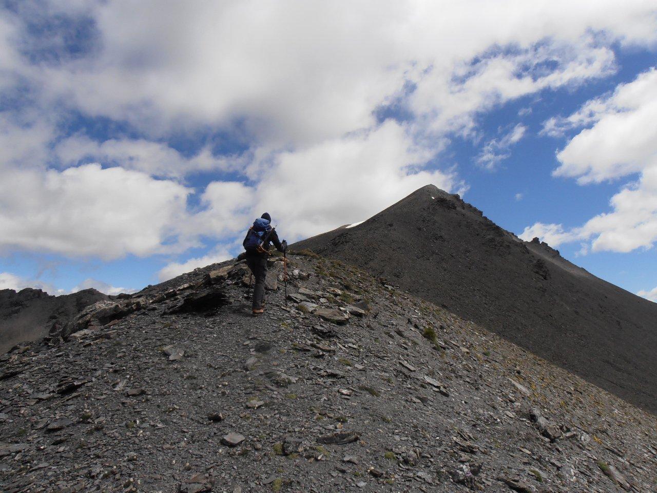 06 - arrivando in cima sulla cresta ad Ovest