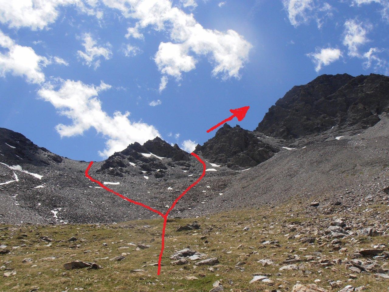11 - i colli di discesa possibili tra il Malrif ed il Petit Rochebrune