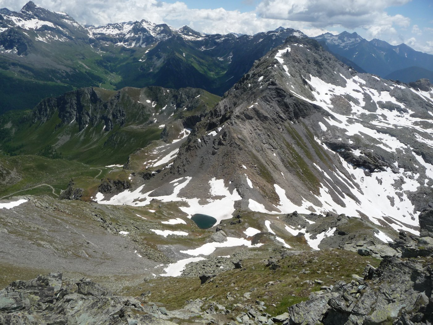 la cresta Nord che dal colle conduce alla becca di Nana