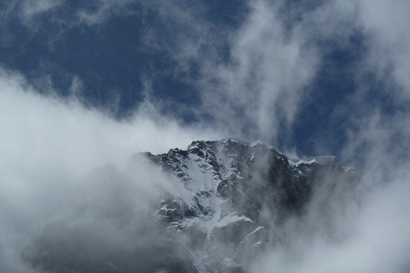 giochi di nuvole sulle Jorasses