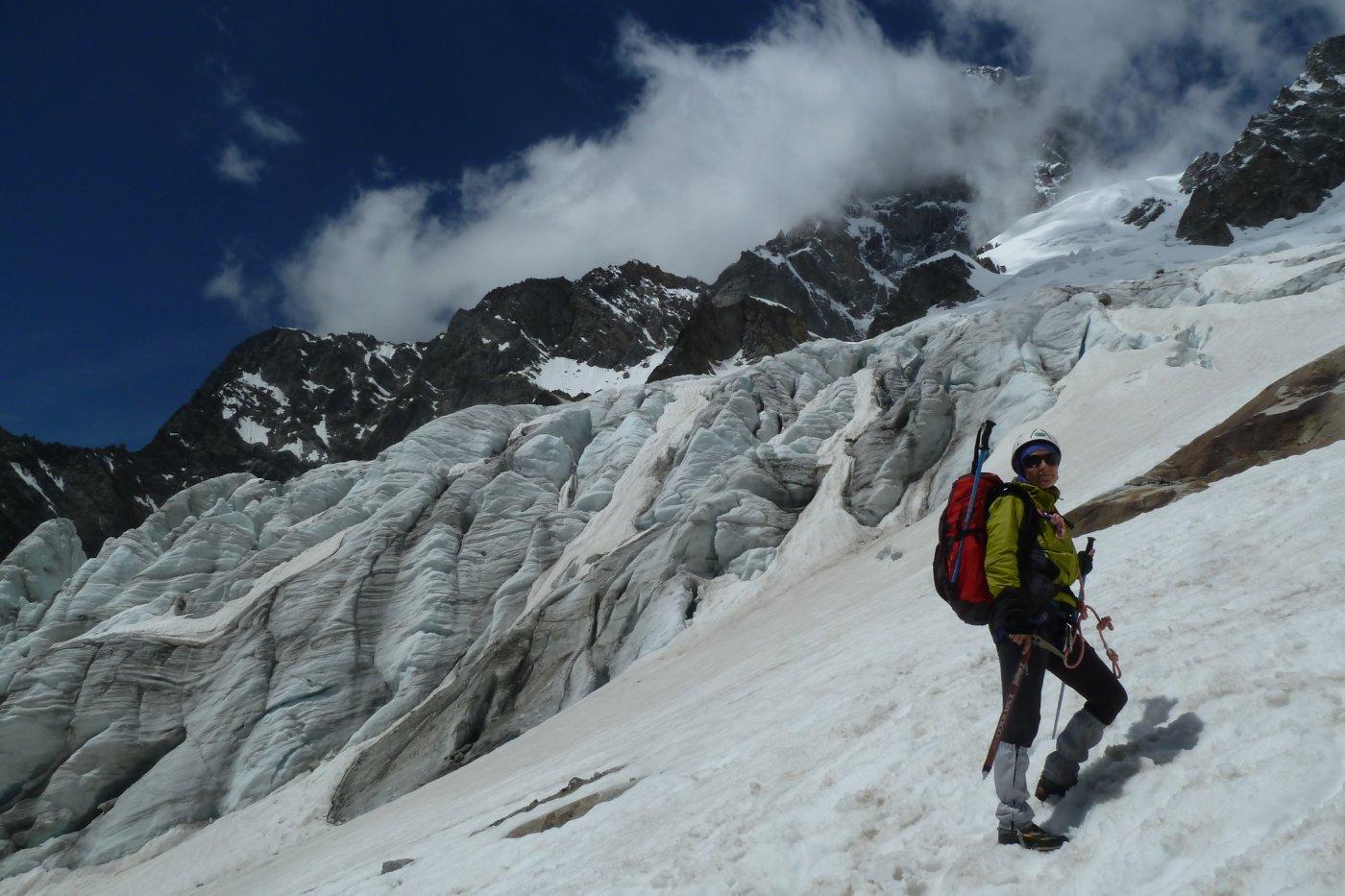 bordeggiando il ghiacciaio