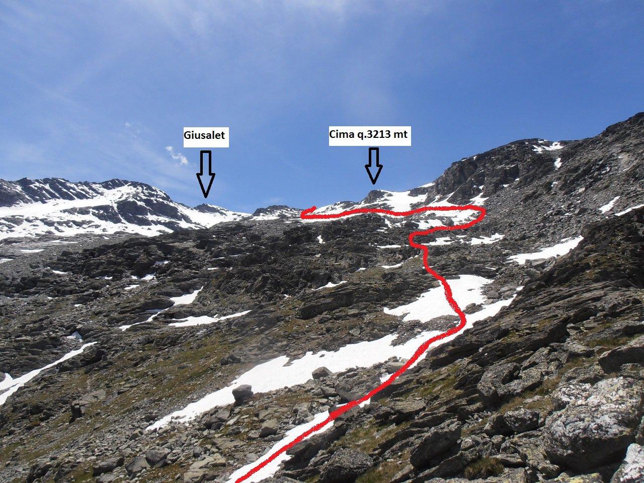 10 - inizio percorso su glacio-nevaio