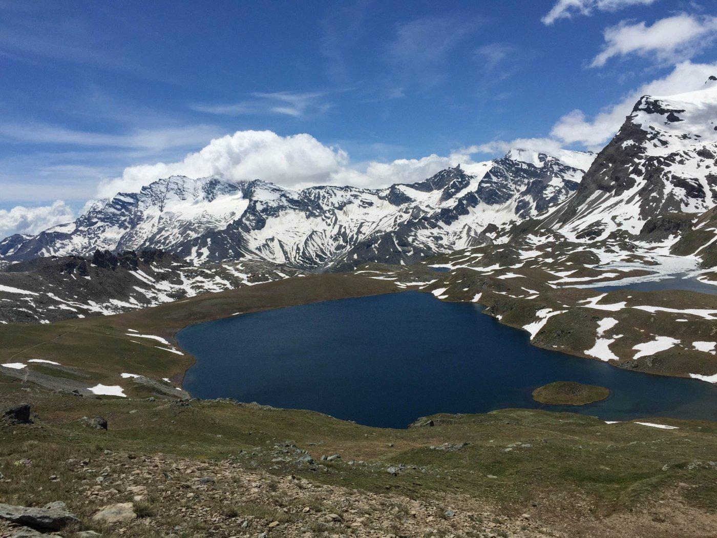 Al ritorno, la vista del Lago Rosset