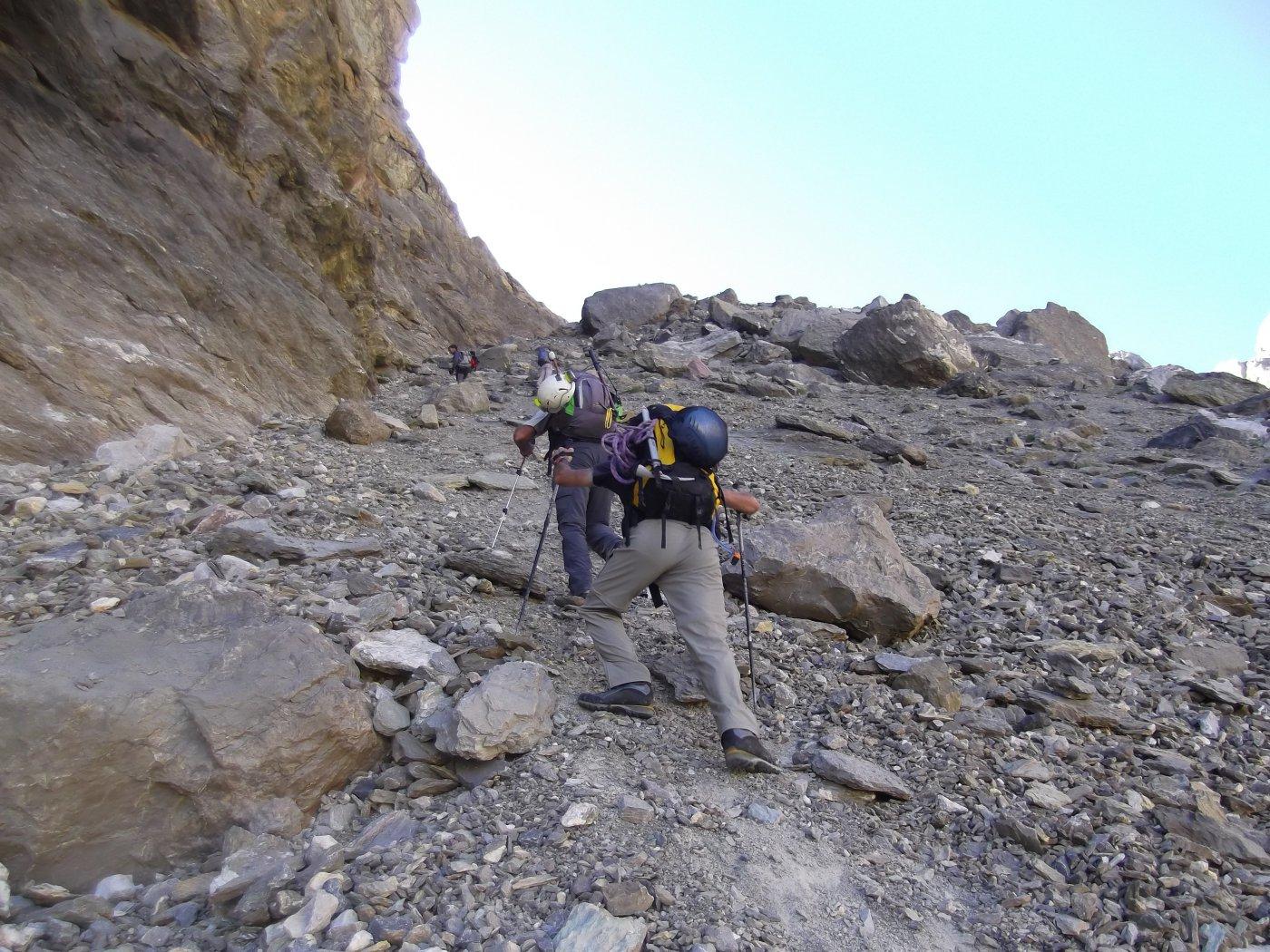 verso la parte alta del Vallone Chauvet