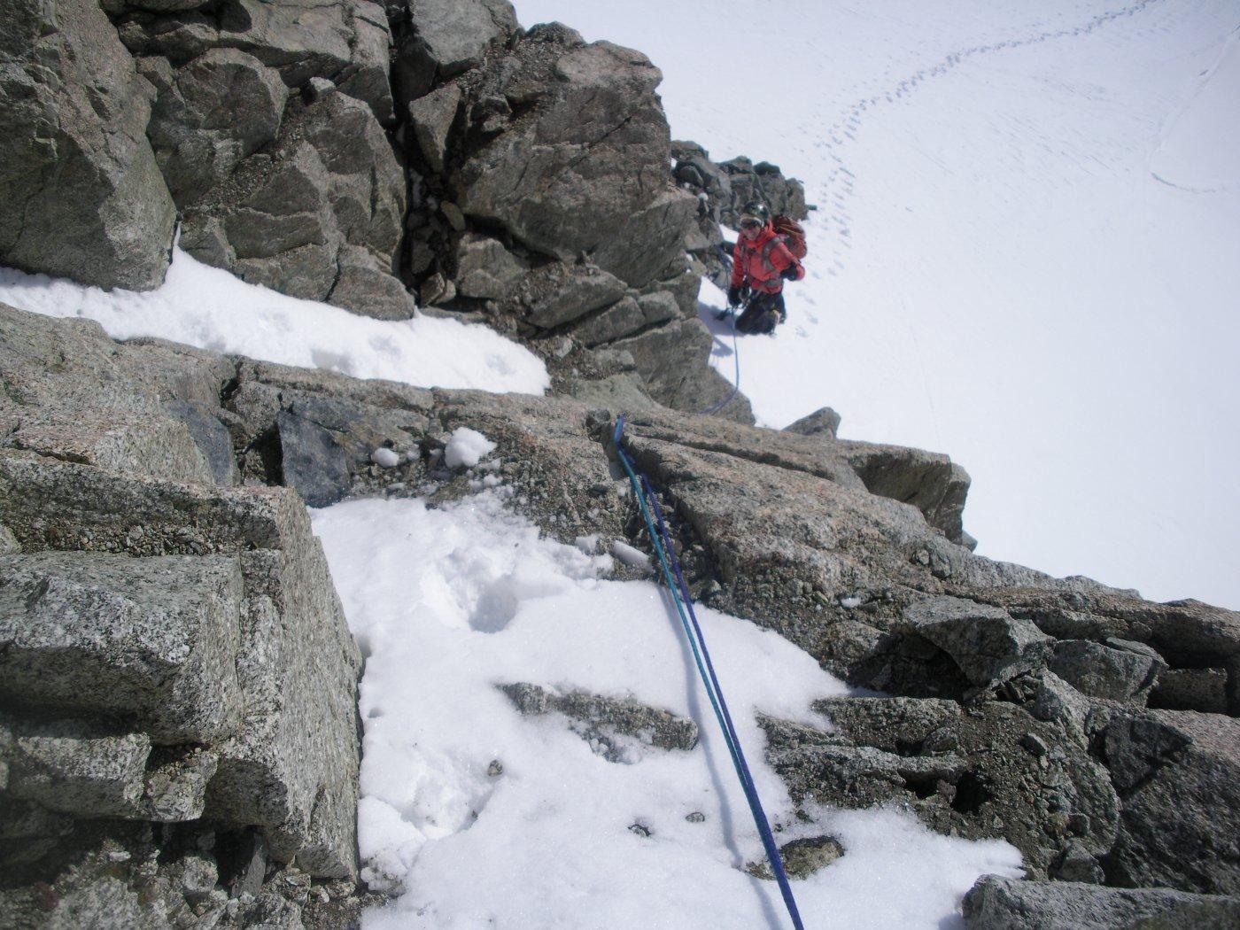una volta qui c'era tutta neve..ora bisogna arrampicare..