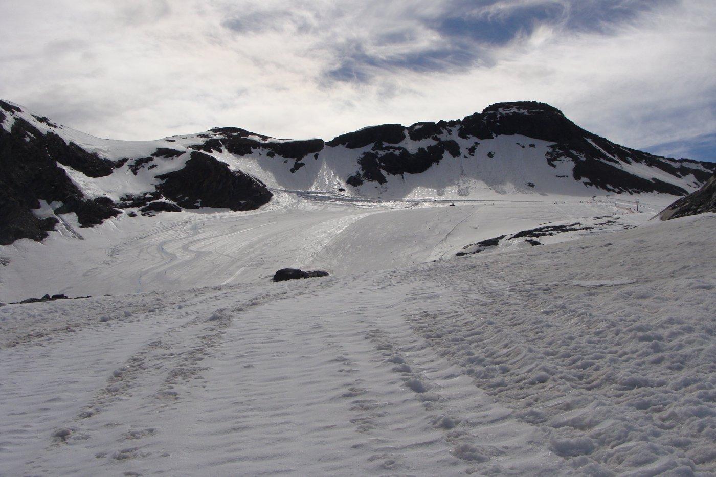 giunto sul ghiacciaio