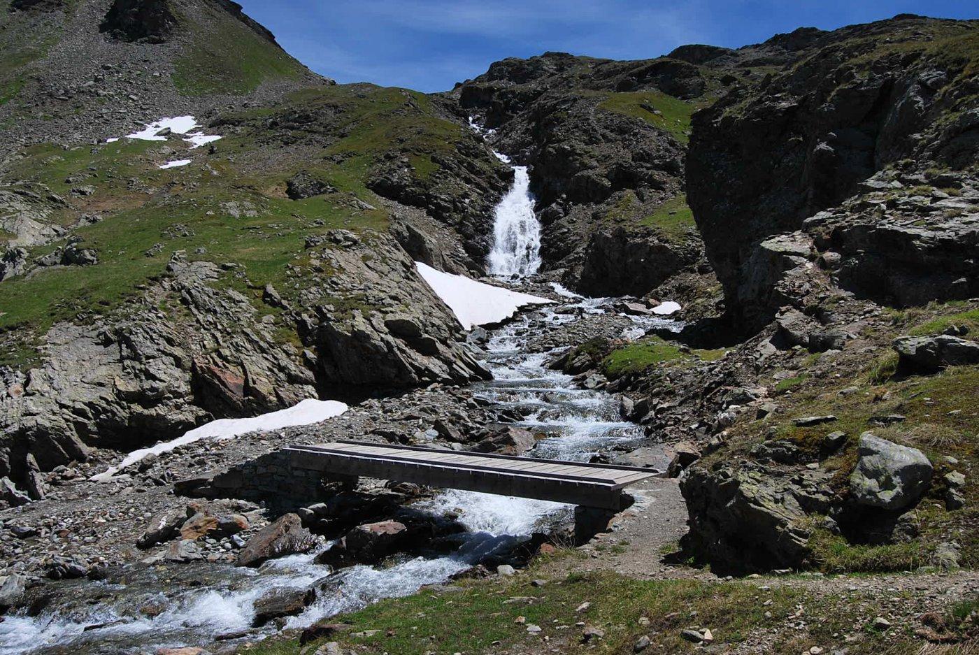 Il torrente Giasson, dove si abbandona il sentiero