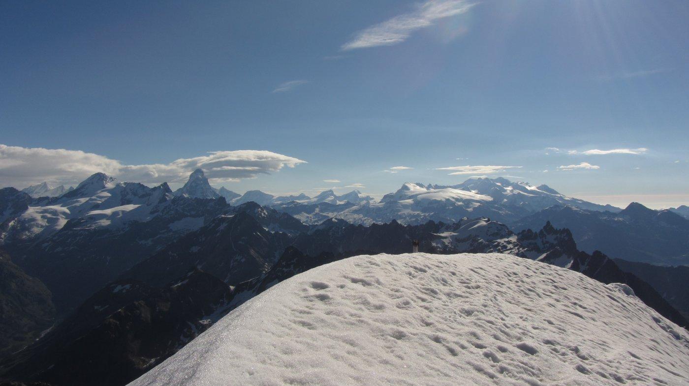 Splendido panorama dalla cima