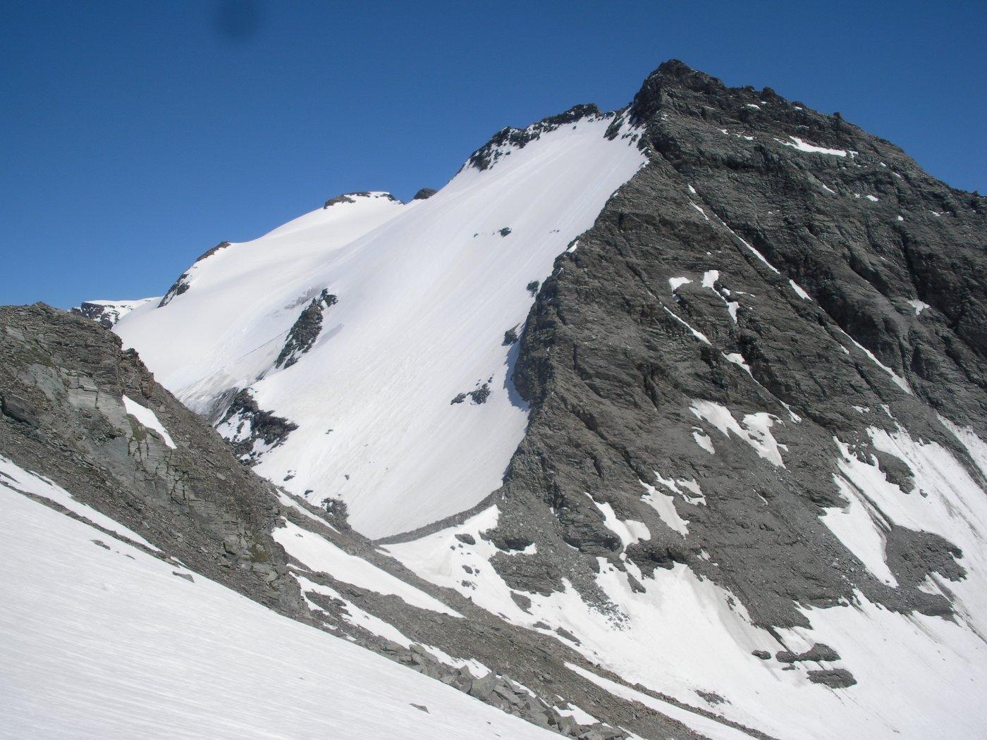al centro il Col de la Fourche e a dx la P.ouest du Grand Fond..ormai in chiusura di anello..