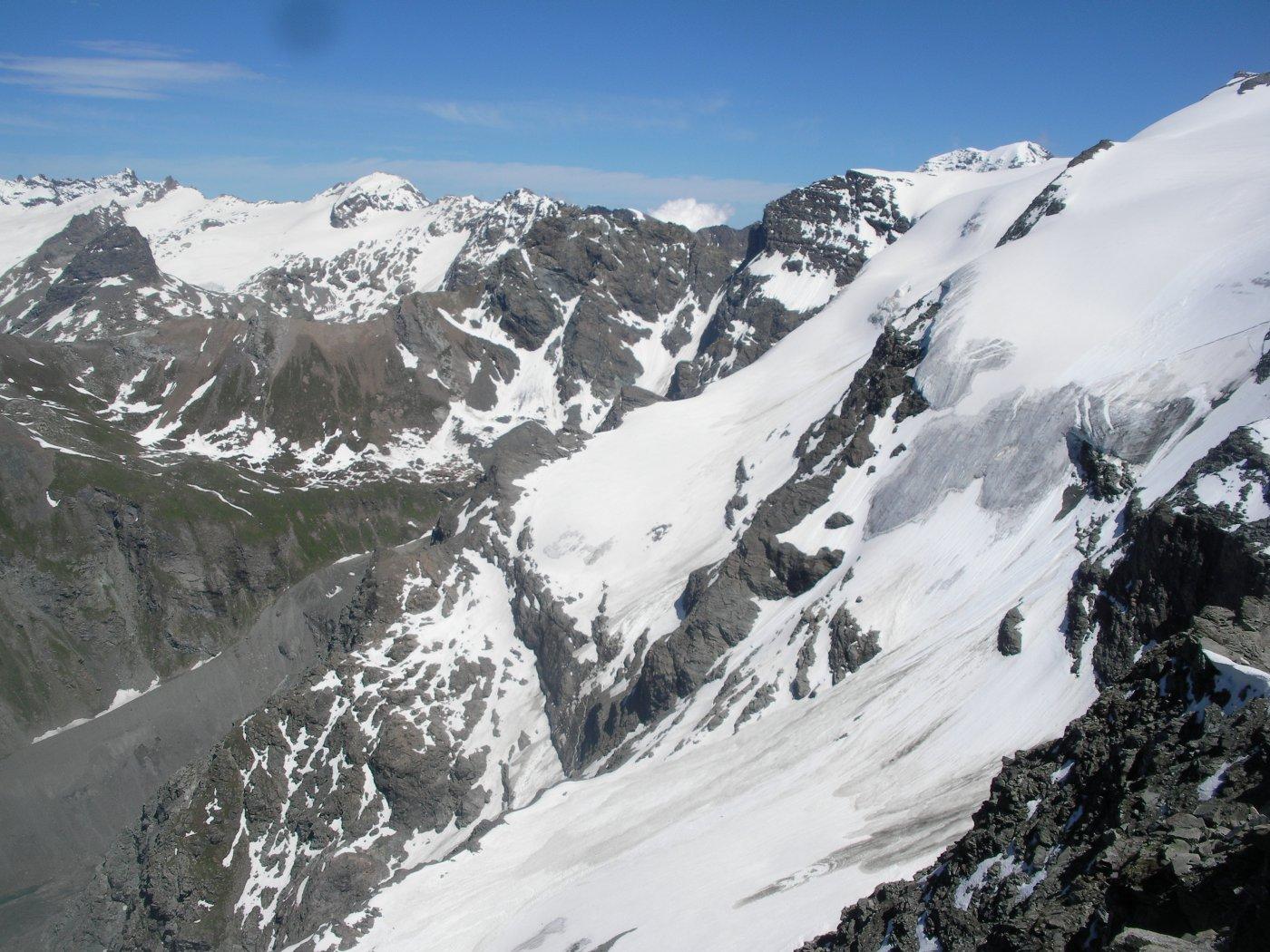 ..sui dirupi glaciali del Vallonet..