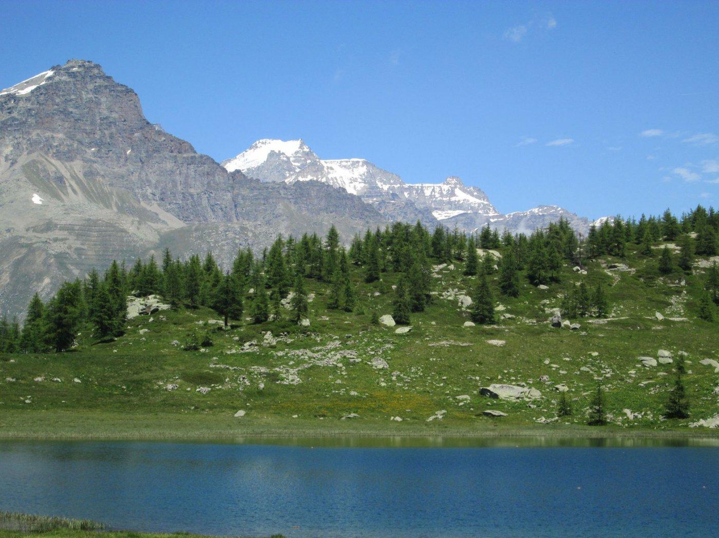 Lago di Dres - Gran Paradiso sullo sfondo