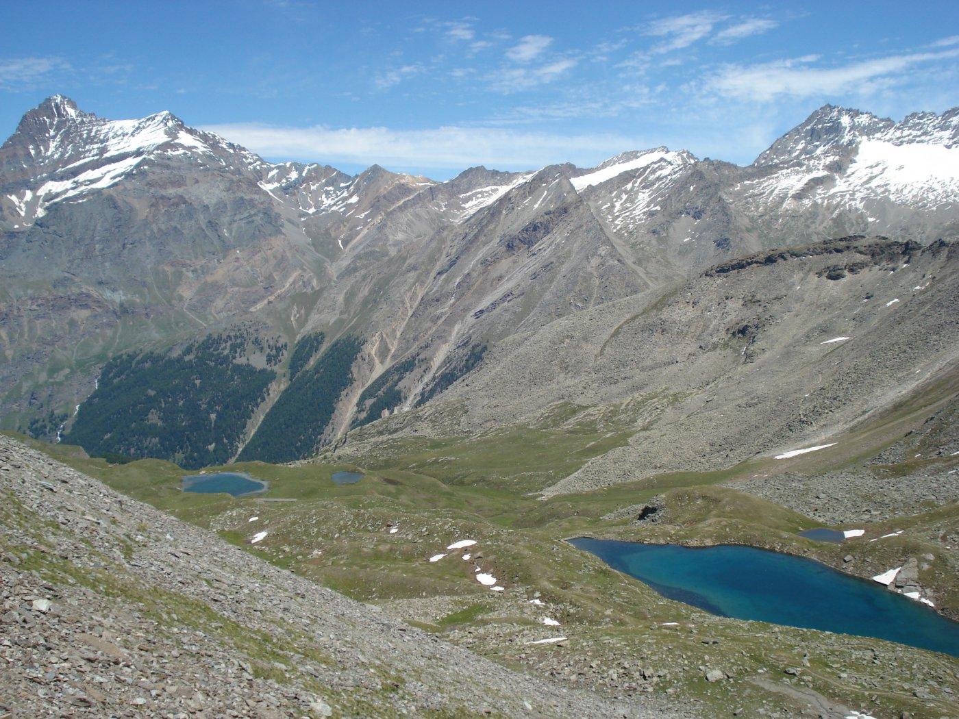 Il Lac Noire e, più in basso, il Djouan