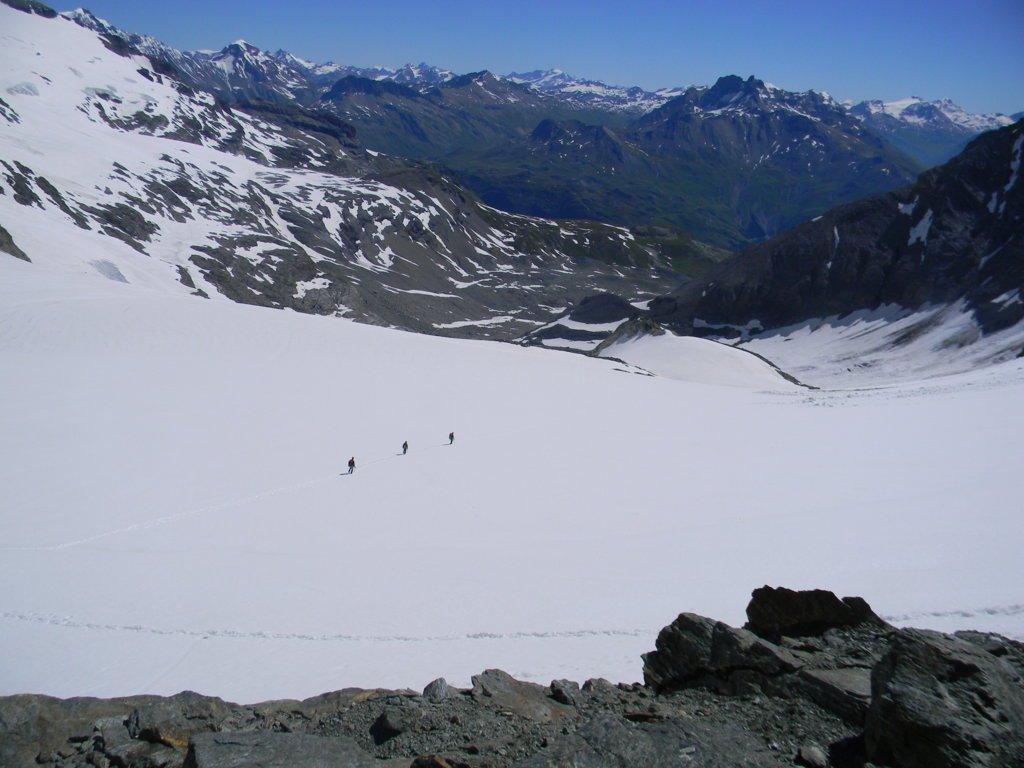 dal colle Labby il ghiacciaio Mahure