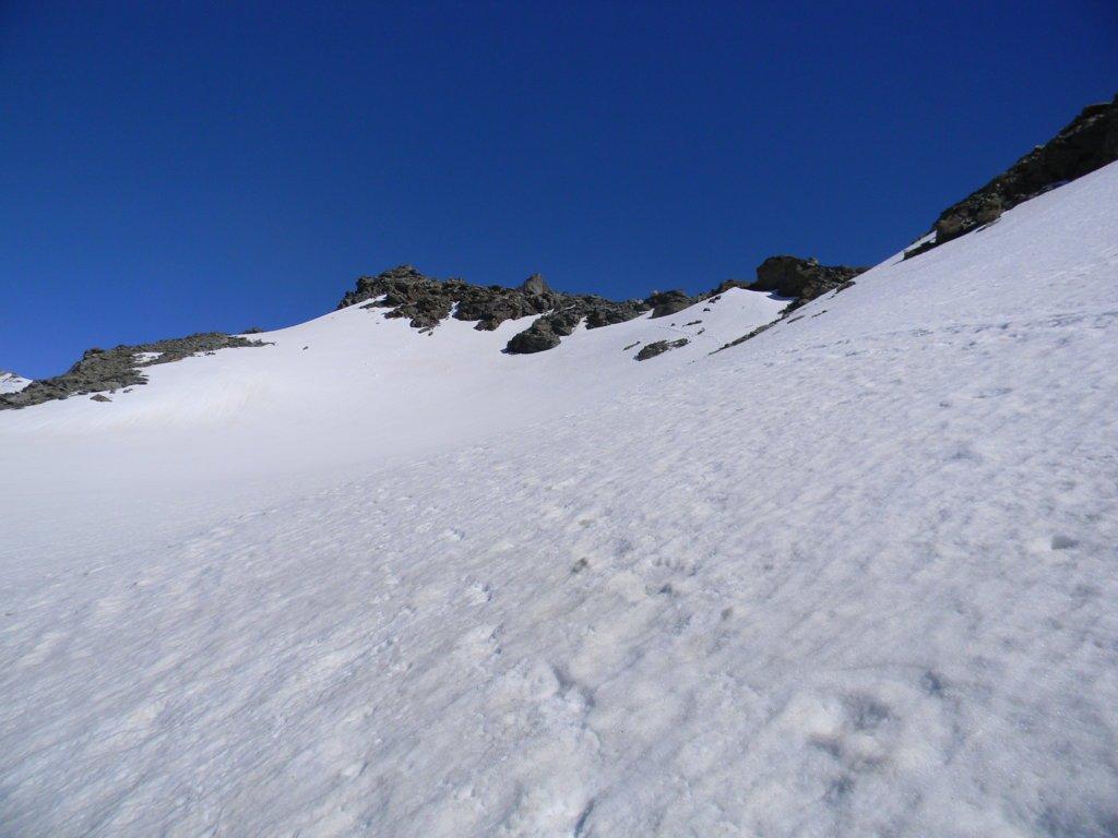 parte alta del ghiacciaio Labby sotto l'omonimo colle
