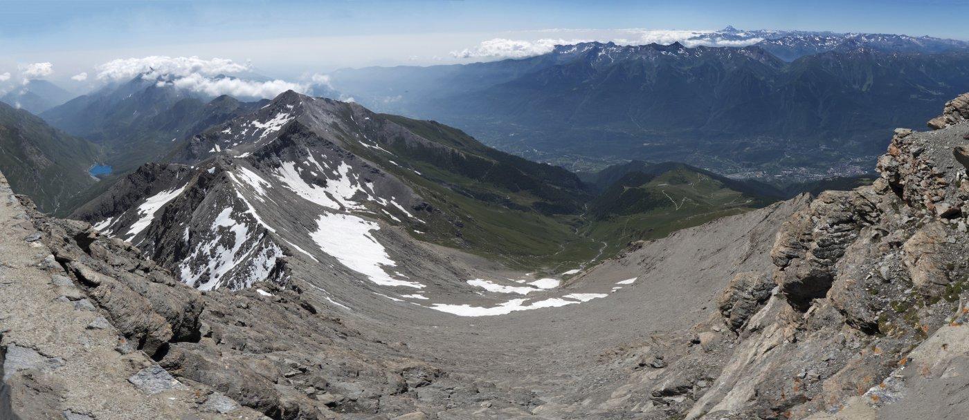 Panoramica verso la Val di Susa (Photomerge)
