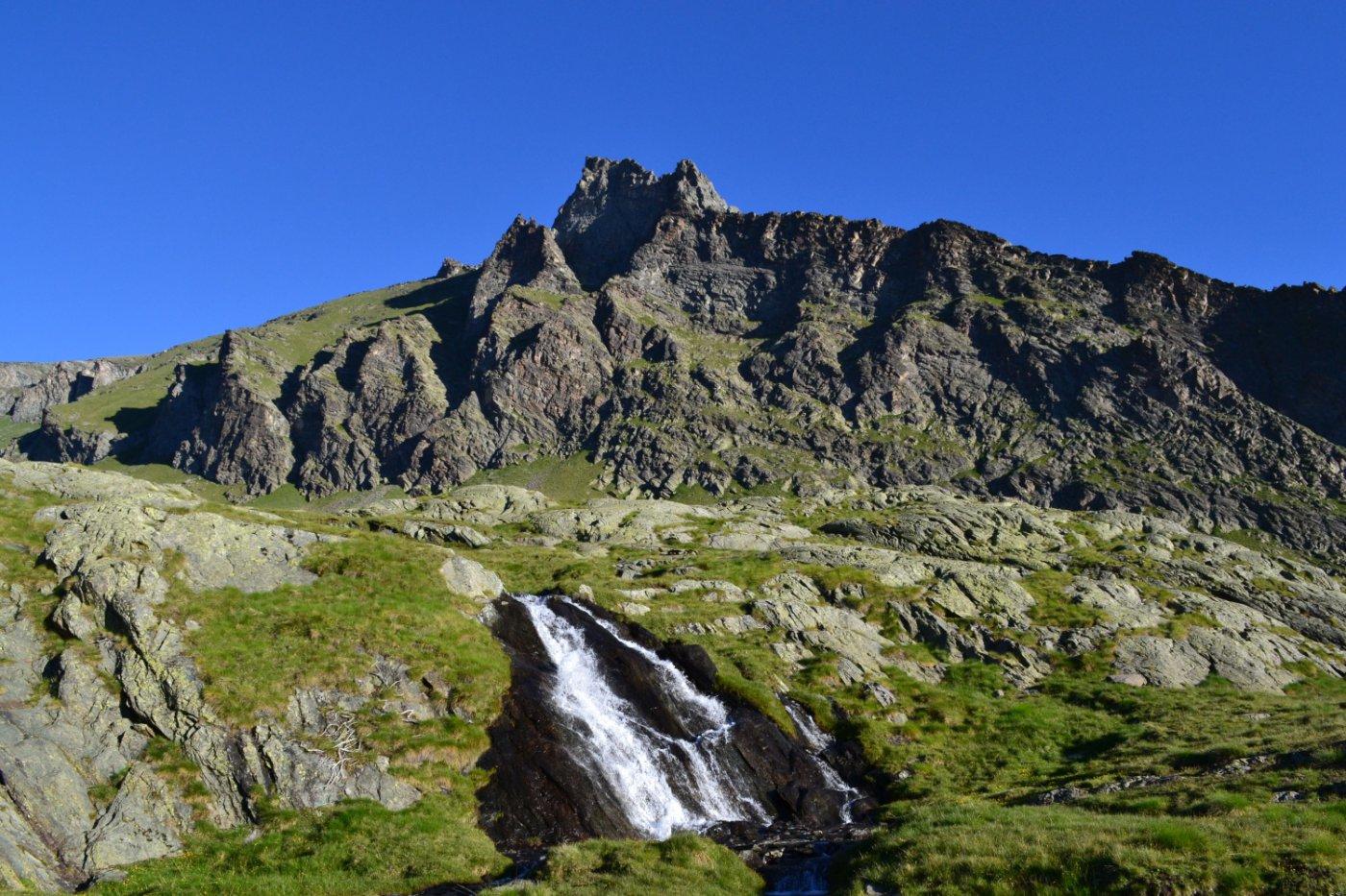 la Punta Pousset percorrendo l'omonimo vallone