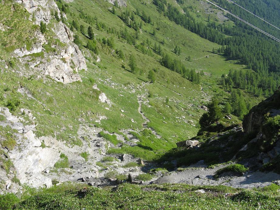 tratto centrale del sentiero