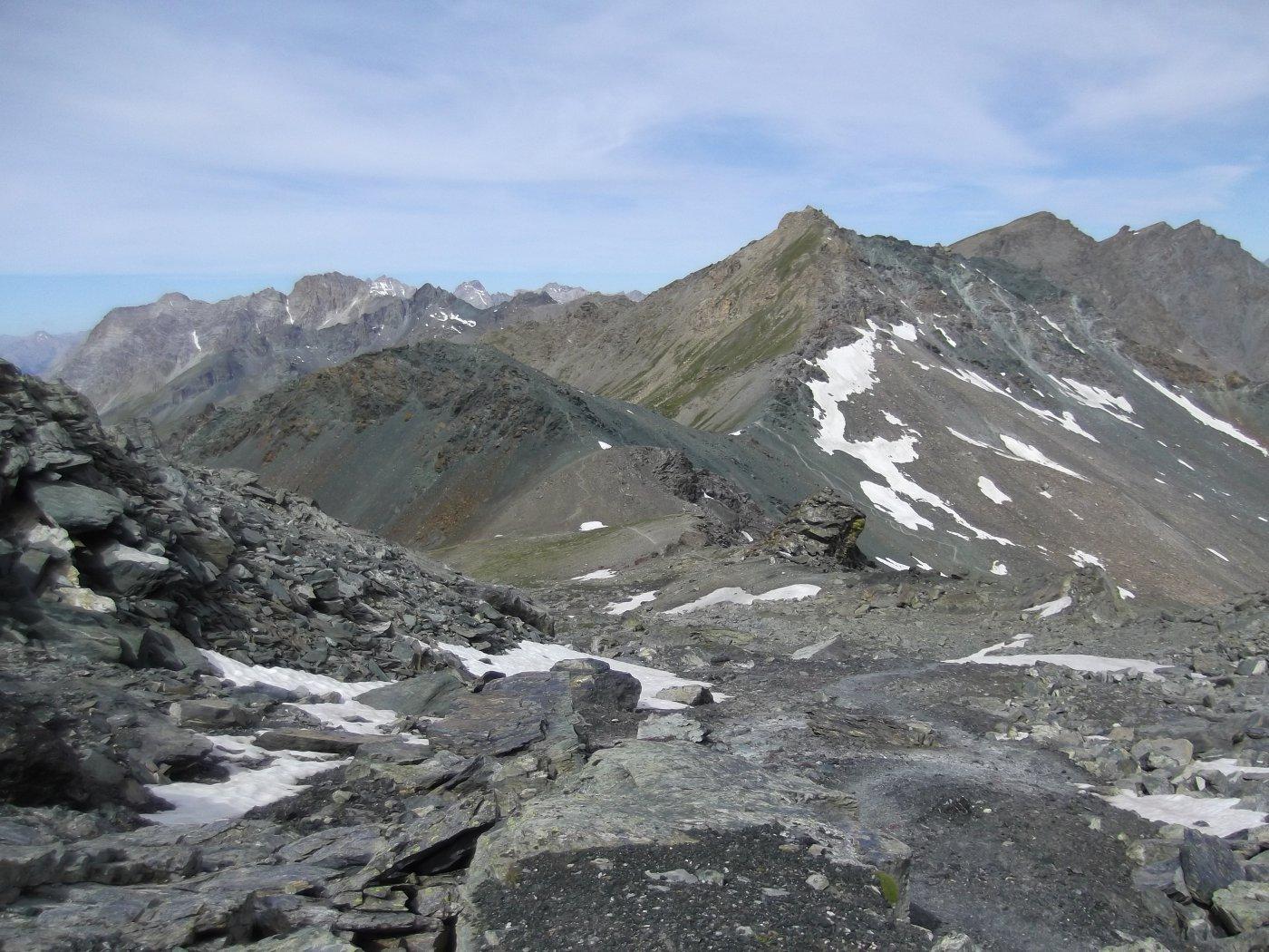 Petite Noire e Pic de la Farneireta visti da Col Blanchatre