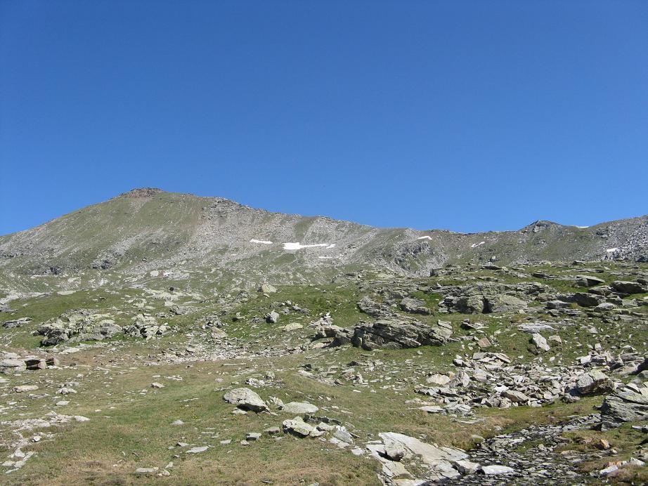 tutta la cresta finale di salita dal Passo di Valnera