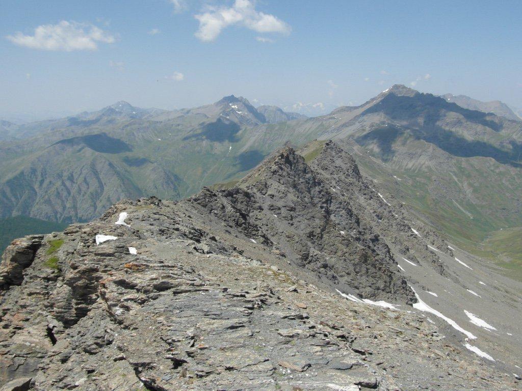 dalla cima Ramiére, Merciantaira e Pic de Rochebrune