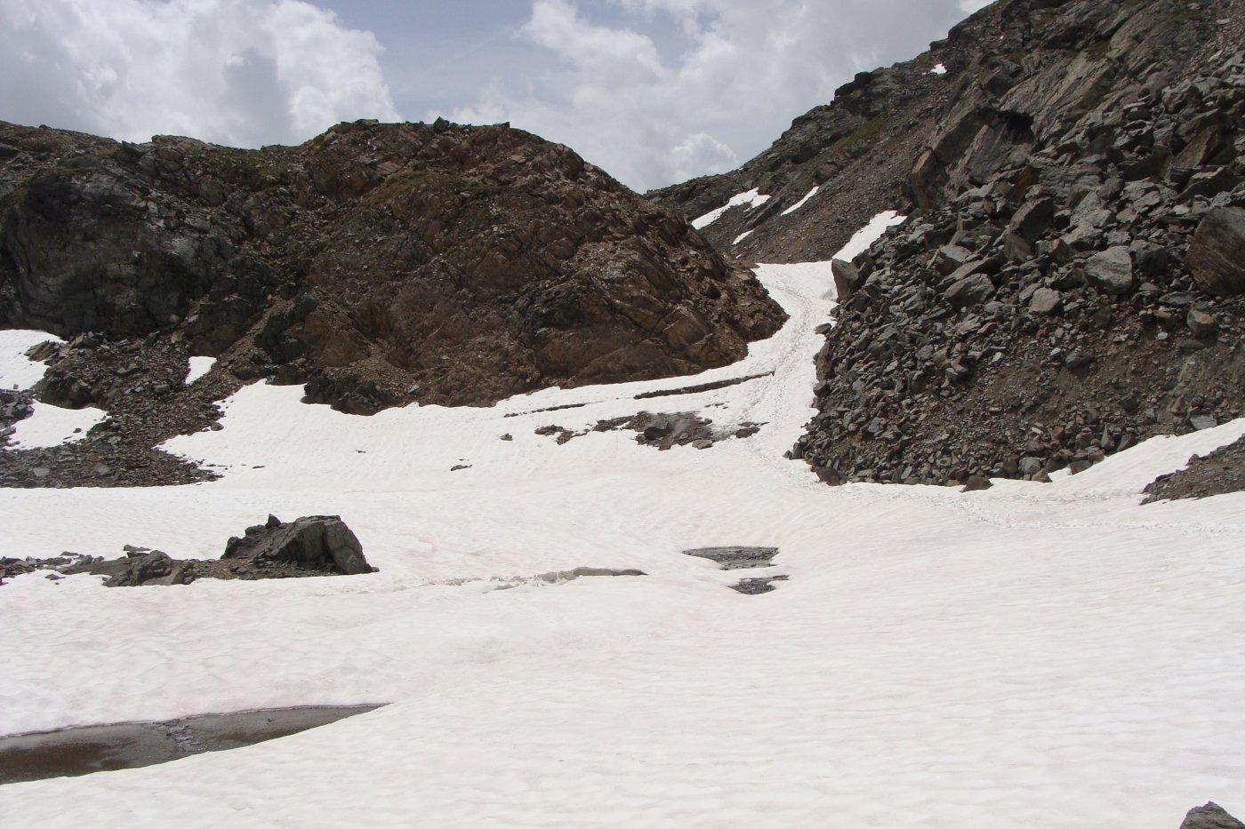 la zona con il nevaio