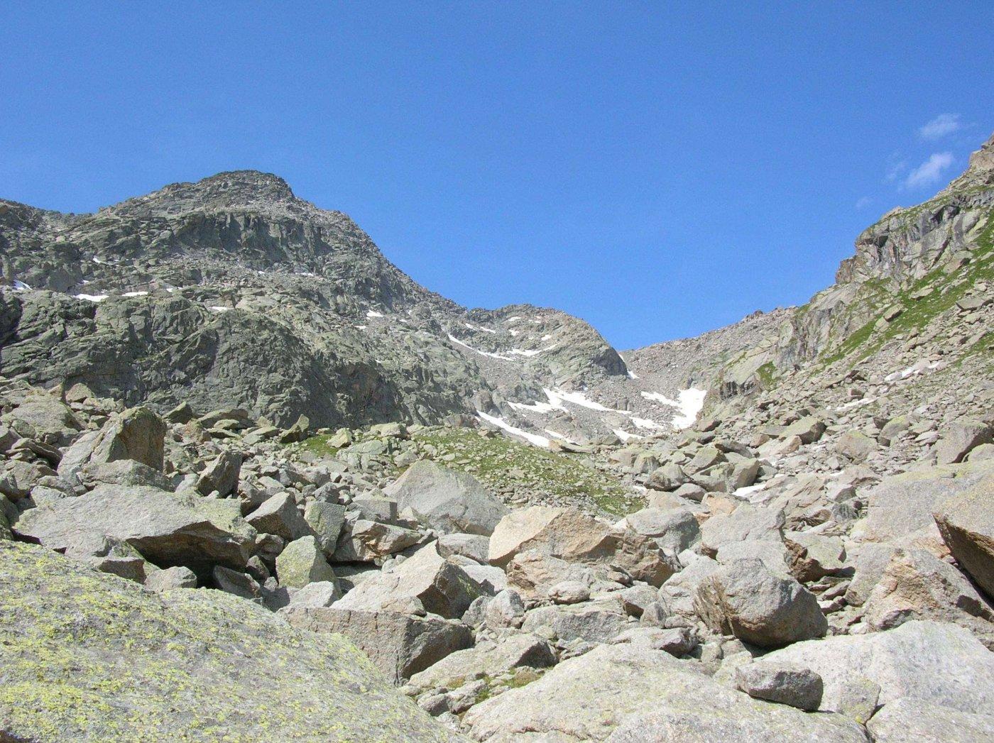 Alto vallone dell' Umbrias verso il Passo di Lago Gelato