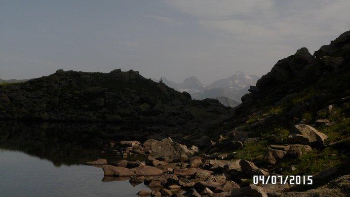 Dal lago di Lusignetto: Tresenta, Ciarforon e Gran Paradiso