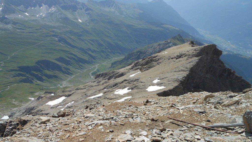 Vista del versante di salita