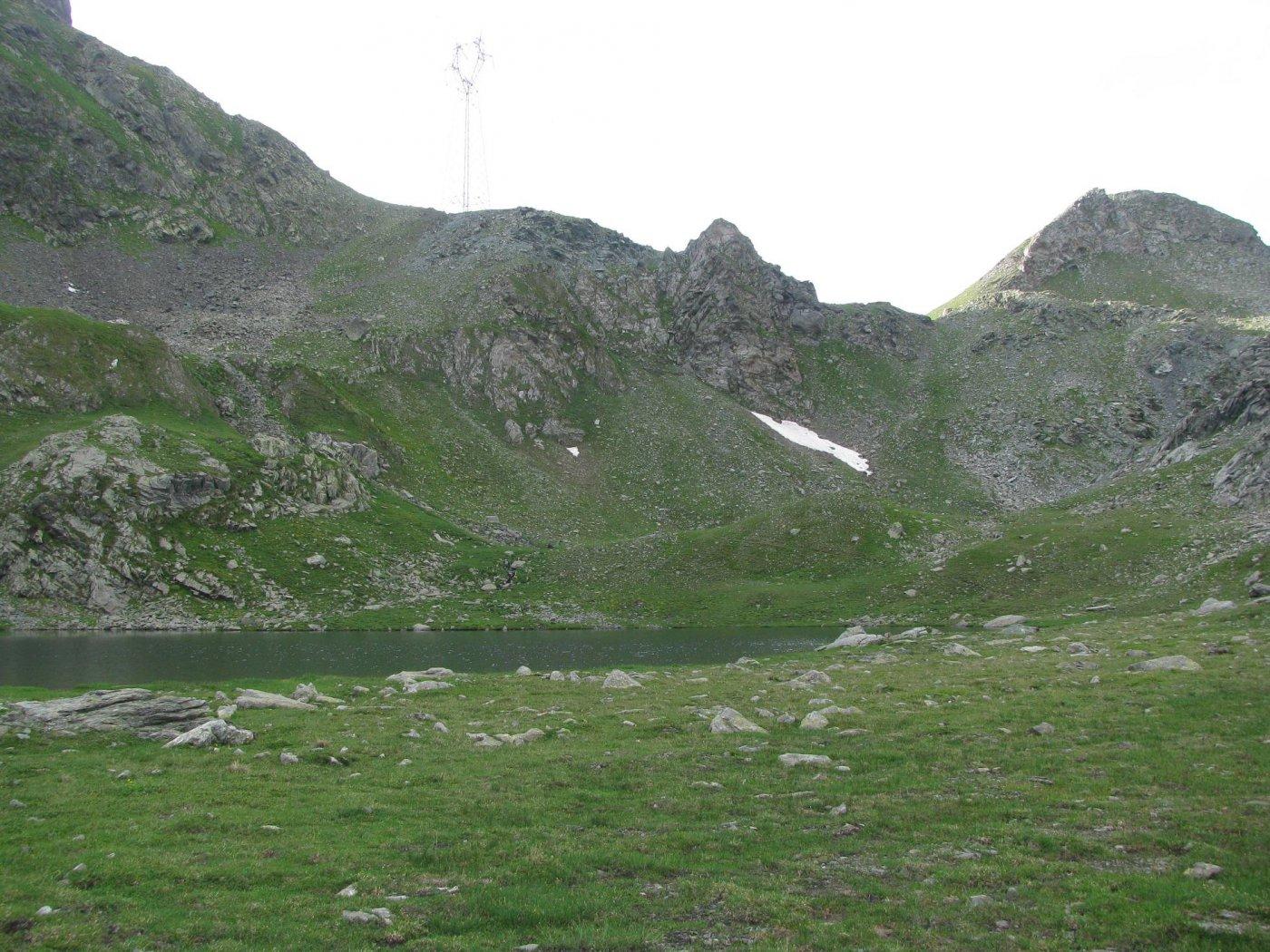 Lago La Reale, Colle Marmotta e a sx, cresta di salita