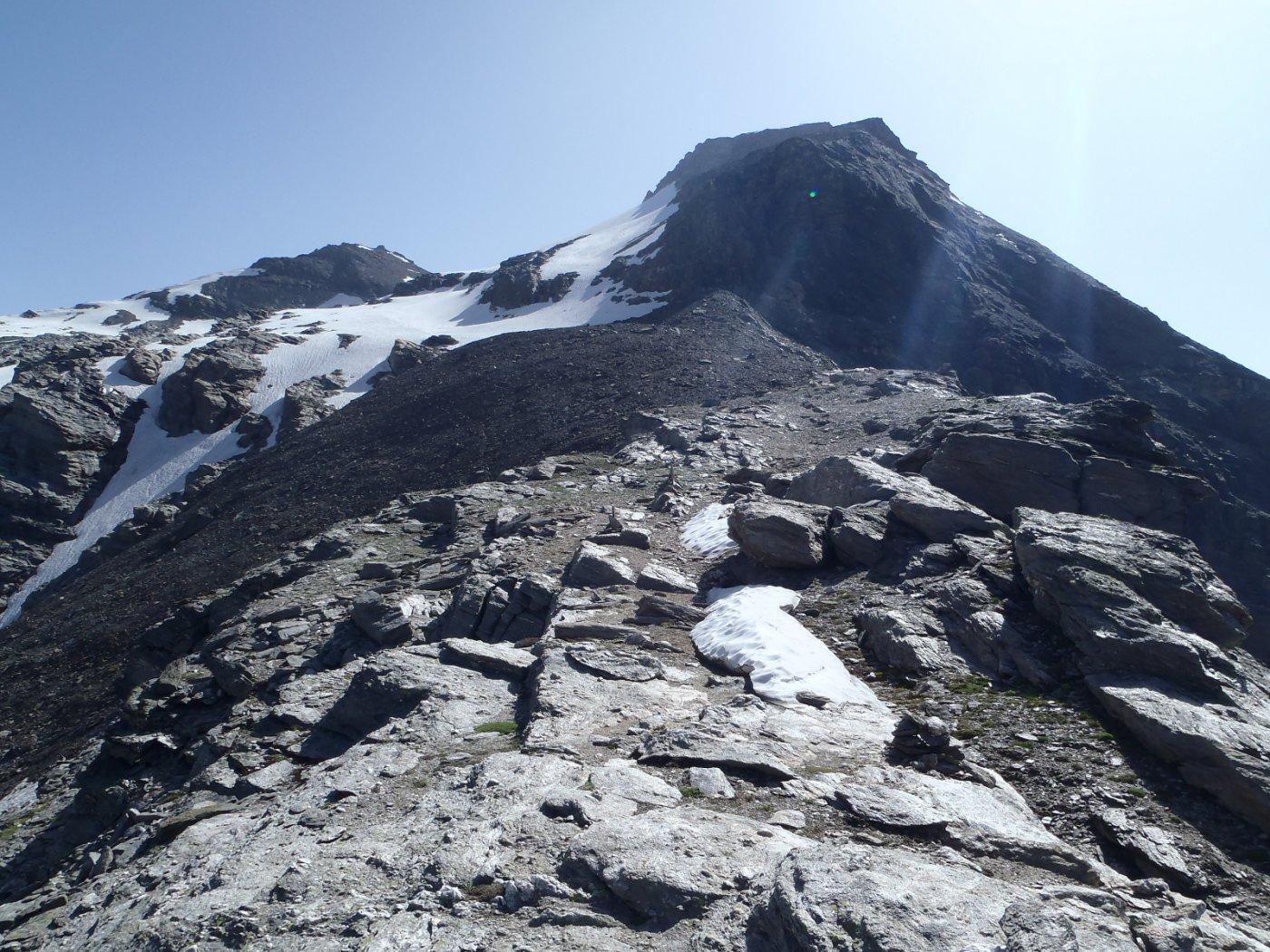 sulla spalla dove inizia il glacio nevaio