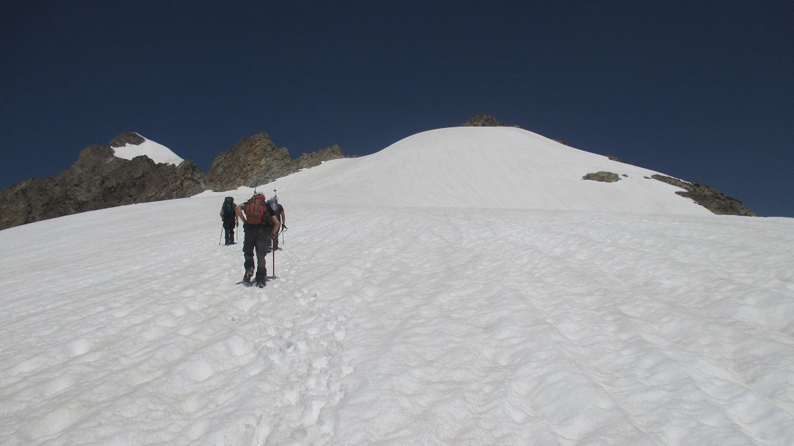 Arrancando nella marmellata, circa quota 3300 m.